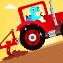 Dinosaur Farm - Tractor simulator games for kids icon