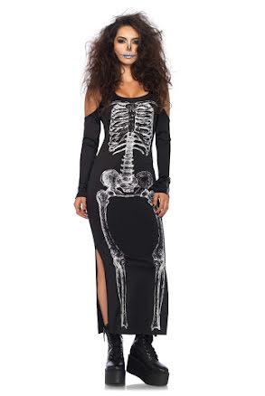 Skelett klänning M/L