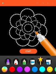 Learn To Draw Glow Flower APK screenshot thumbnail 10