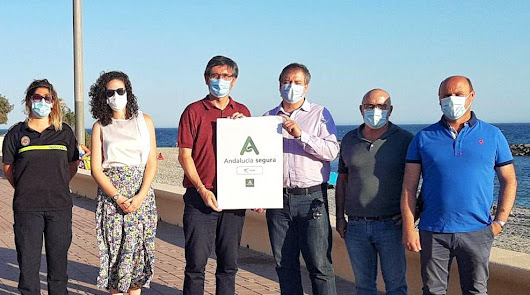 Adra es el primer municipio en conseguir el sello 'Andalucía Segura'