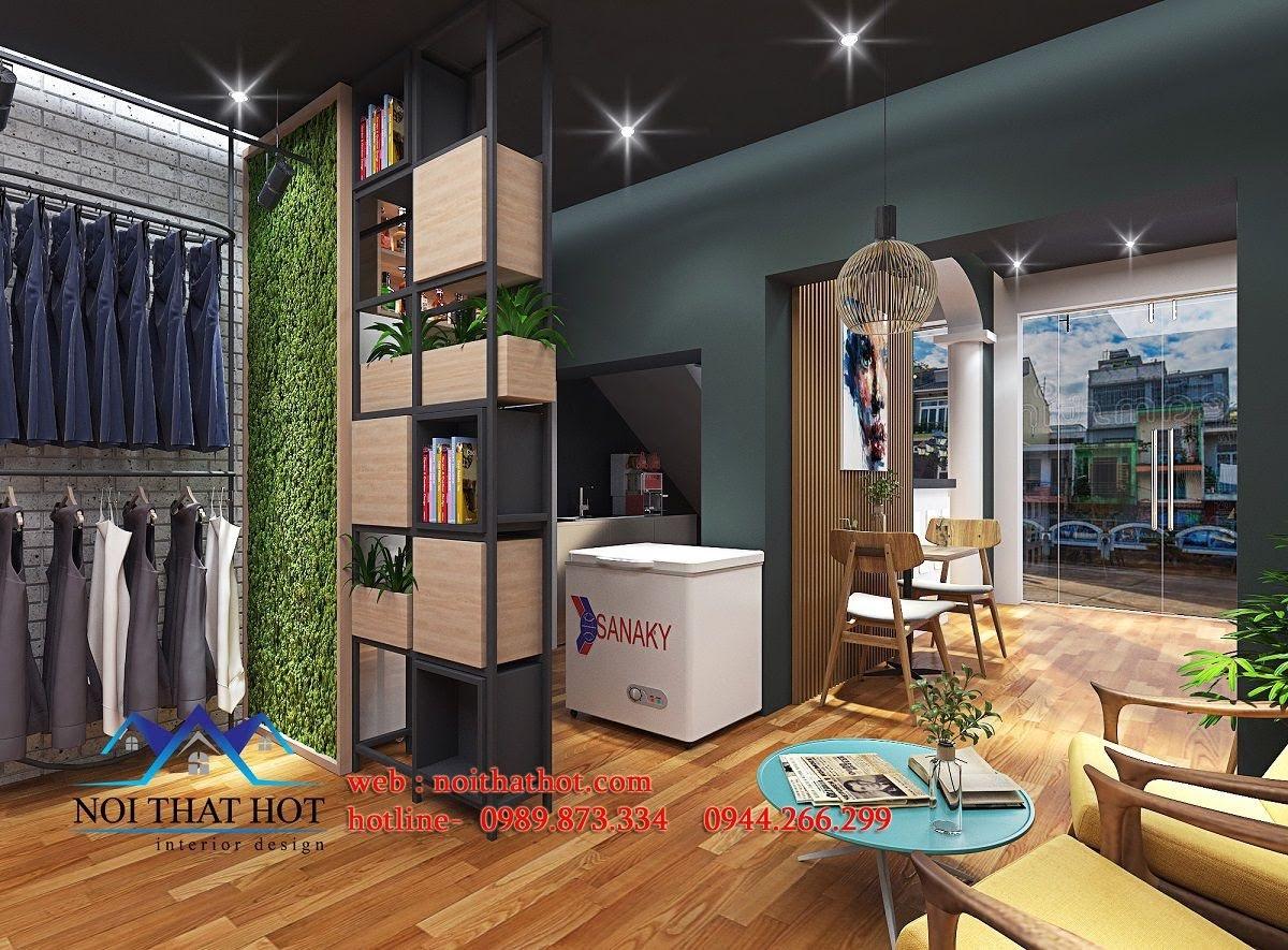 thiết kế quán cafe kết hợp shop thời trang 9