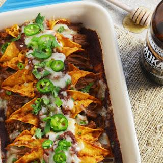 Slow Cooker Honey Chipotle Stout Enchiladas