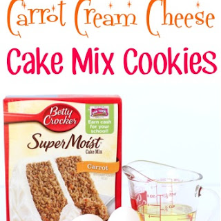 Carrot Cream Cheese Cake Mix Cookies Recipe!