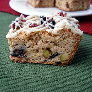 Cranberry Pistachio Blondies