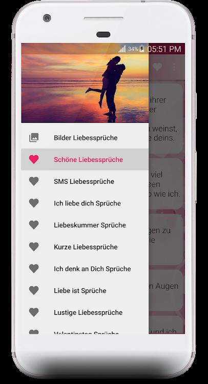 Schöne Liebessprüche Android приложения Appagg