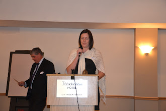Photo: ASHRAE OVC March Meeting - Abbey Saunders welcoming Guests