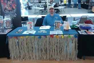 Photo: My table at Fandom Fest Supercon in Metropolis, IL.