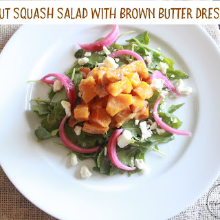 Butternut Squash Salad with Brown Butter Dressing