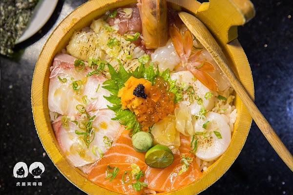 福川町 超澎湃木盆丼飯!日本料理必吃豪華海景丼,份量十足的海鮮天婦羅