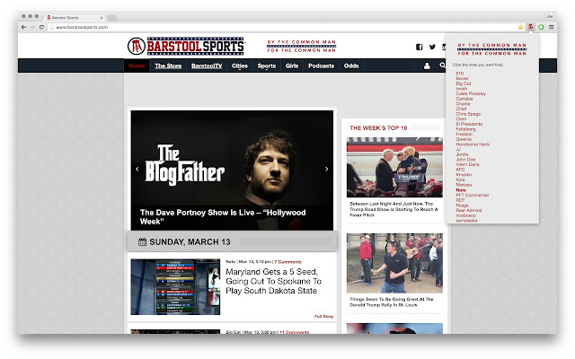 Barstool Bad Blogger Extension