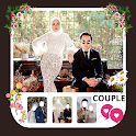 Modern Wedding Couple Hijab icon