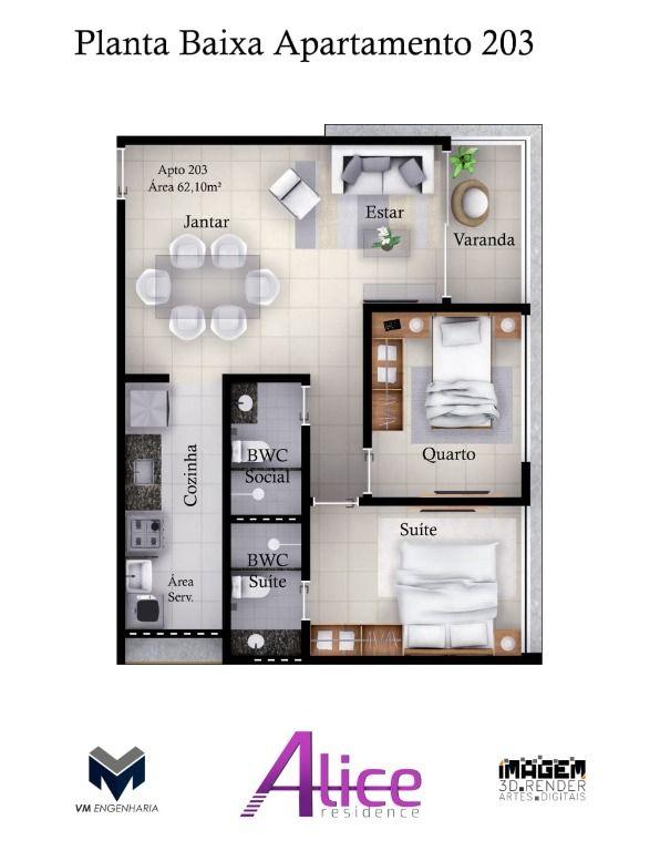 Apartamento com 2 dormitórios à venda, 55 m² por R$ 0 - Jardim Oceania - João Pessoa/PB