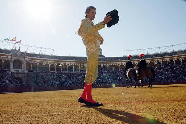 Ruiz Manuel en la Real Maestranza de Sevilla.