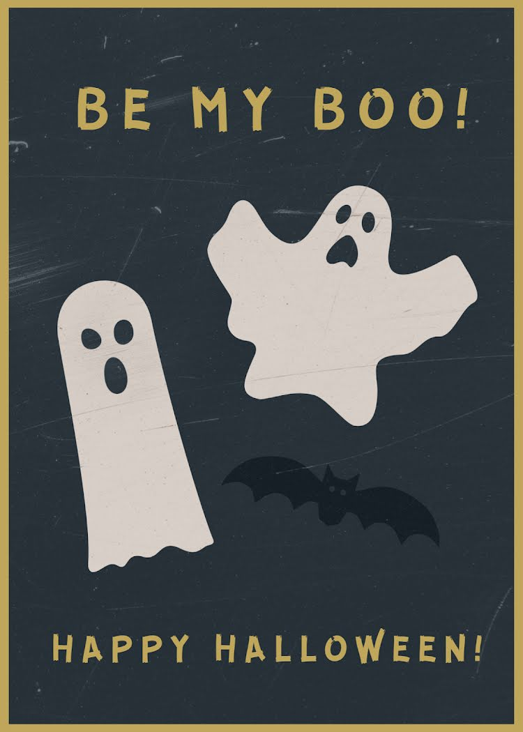 Be My Boo! - Halloween Template