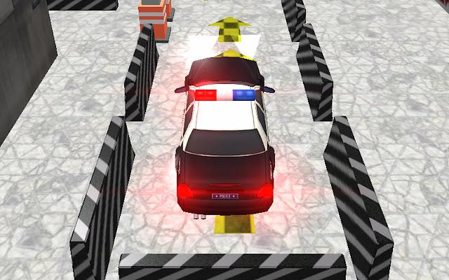 سيارة الشرطة وقوف السيارات