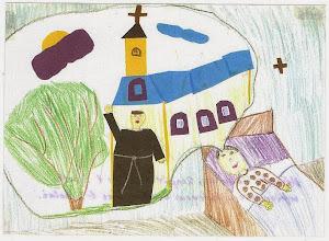 Photo: Praca konkursowa, 2001 r.  Małgosia, lat 8. Wyróżnienie w kat. wiek. klas 1 - 3.