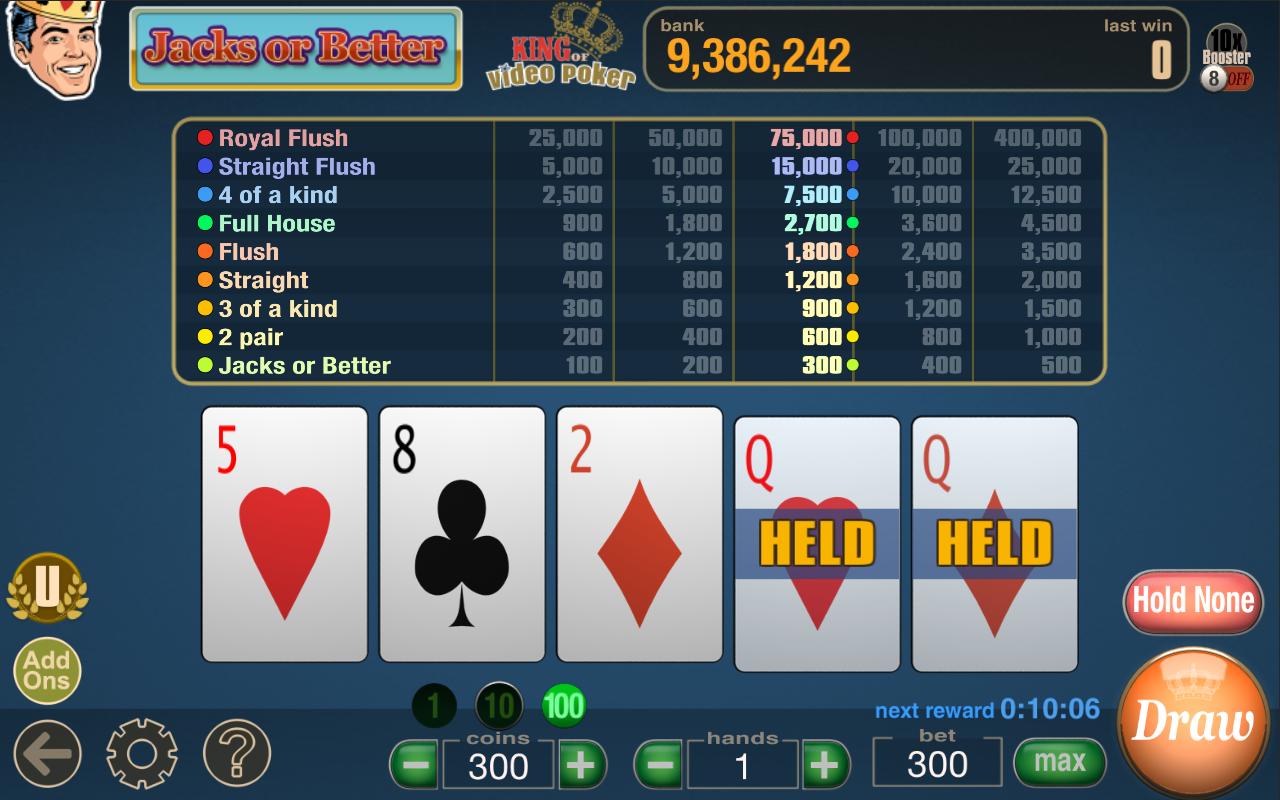 game king video poker tips