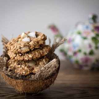 Clean Eating Coconut Almond Oatmeal Cookies.