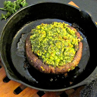 Parsley Stuffed Portobellos
