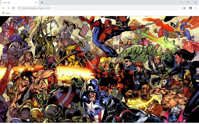 Marvel Comics Wallpapers and New Tab