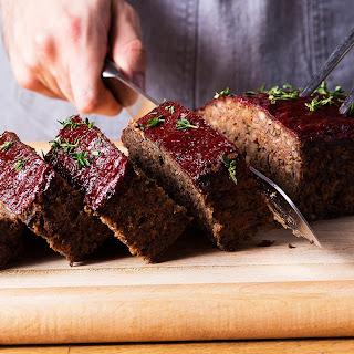 Vegetarian Mushroom Meat Loaf.