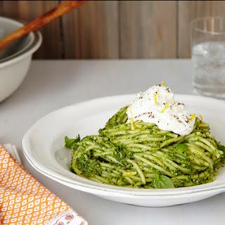 Winter Pesto Spaghetti With Lemon Ricotta