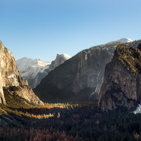 Yosemite by Evver Gonzalez - Landscapes Mountains & Hills ( mountains, national park, sierra nevada, tunnel view, yosemite, california, waterfall )