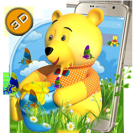 Teddy Bear Cartoon 3D Theme