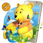 Teddy Bear Cartoon 3D Theme Icon