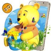 Teddy Bear Cartoon 3D Theme