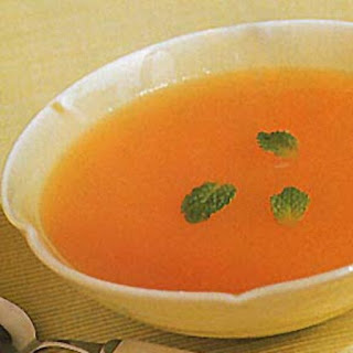 Cold Cantaloupe and Mint Soup