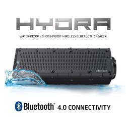 Photive HYDRA Rugged Water Resistant Wireless Bluetooth Speaker. Shockproof and Waterproof Wireless Speaker