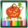 Halloween coloring pages : witches &  Pumpkins