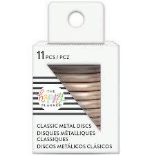 Me & My Big Ideas CLASSIC Happy Planner Metal Expander Discs 11/Pkg - Rose Gold