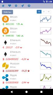 Crypto Ticker - náhled