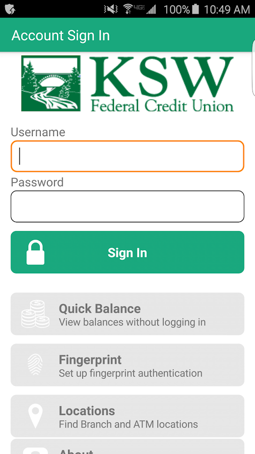 KSW FCU Mobile Banking- screenshot