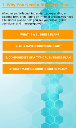 Business Plan Development screenshot 2