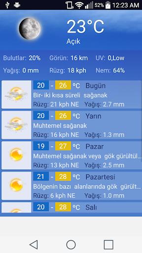 Istanbul Hava Durumu screenshot 3