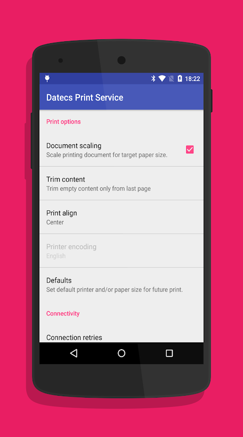 Datecs Print Service- screenshot