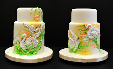 Photo: dancing with swans by vinism sugarart (7/4/2012) View cake details here: http://cakesdecor.com/cakes/20490