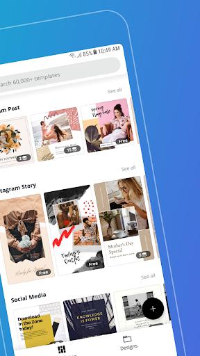Canva: Graphic Design, Video, Invite & Logo Maker apkmr screenshots 2