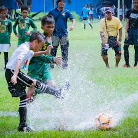 splash kick by Empty Deebee - Sports & Fitness Soccer/Association football ( soccer, game, football )