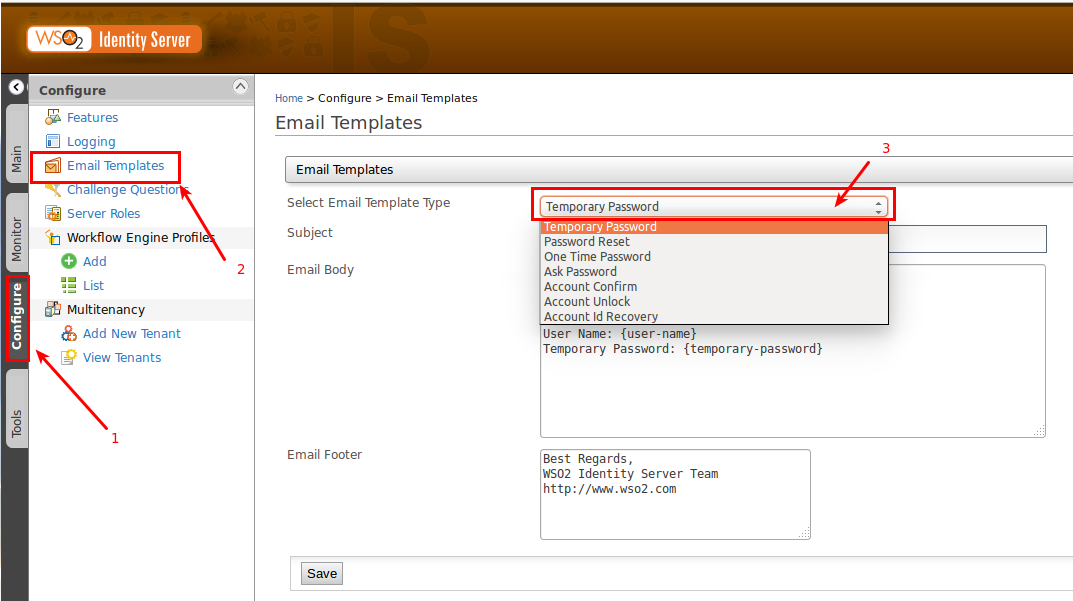 SECURITY INTERNAL COM Email Templates In Identity Management - Save an email as a template