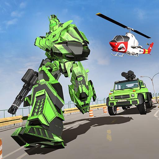 Truck Robot Game - 6x6 Offroad Truck Transform