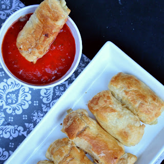Mozzarella Sticks Made with Puff Pastry.