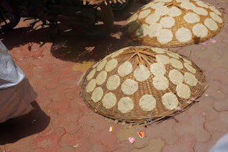 Photo: poppadom drying in the sun