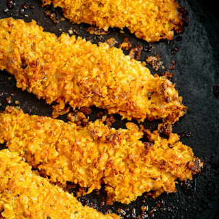 Double-Crusted Chicken Tenders with Sriracha-Honey BBQ Sauce