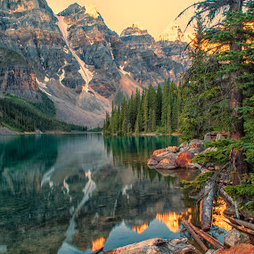 Lake Moraine by Filippo Bianchi - Landscapes Waterscapes