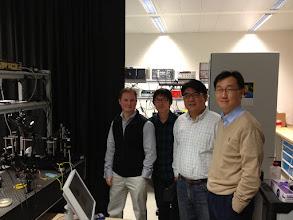Photo: Dr. Frank Vollmer, Jongmin Kim, Dr. Changsoo Lee, and Dr. Kim at Max Planck Institute for the Science of Light, Erlangen, Germany