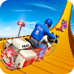 Police Bike Mega Ramp Impossible Bike Stunt Games Online PC (Windows / MAC)